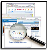 Internet Search engines, such as Google, Bing, Yahoo, etc. all have powerful databases behind the scenes
