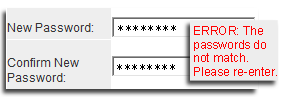 Pasword verification