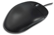 A typical computer mouse